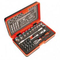 Estuche puntas de atornillado+puntas precisión 32 piezas...