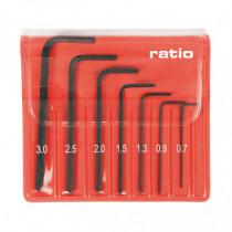 Juego 7 llaves Allen de precisión RATIO 5184