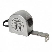 Flexómetro acero inoxidable RATIO INOX PRO 5 m x 25 mm
