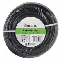Cable eléctrico bipolar manguera DUOLEC negro UNE H05VV-F...