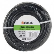 Cable eléctrico bipolar manguera DUOLEC negro UNE H05 VVF...