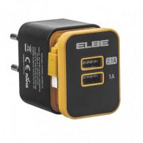 Cargador USB de pared ELBE 2xUSB + micro USB