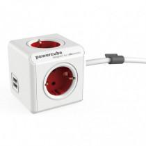 Ladrón Powercube original 4 tomas corriente + 2 USB con...