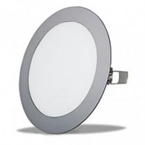 Aplique redondo empotrable LED DUOLEC Oporto 14,5cm cromo...