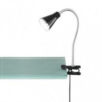 Lámpara estudio Led DUOLEC flex c/pinza 3,8W Negra