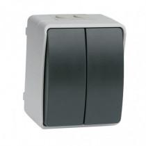 Interruptor/conmutador doble estanco SIMON