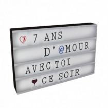 Caja decorativa DIN-A3 luminosa con letras blanca