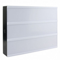Caja decorativa DIN-A4 luminosa con letras negra