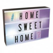 Caja decorativa DIN-A4 luminosa con letras multicolor
