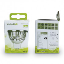 BOMBILLA DICROICA LED VEKELL - 5W/MR16