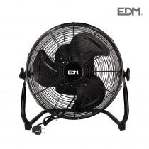 Ventilador industrial oscilante negro 60w  ø aspas 40 cm edm
