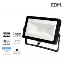 Foco proyector led 100w 6400k 7000 lumens edm