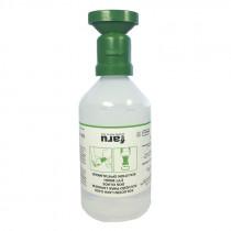 Botella lavaojos con solución salina