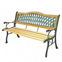 Banco jardín forja/madera tropical y resina