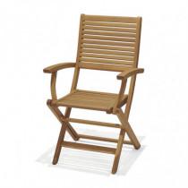 Juego 2 sillas jardín plegable Brisa con brazos