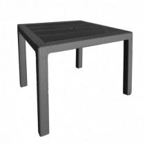 Mesa de resina rectangular Elegance antracita 80x80xh.72 cm
