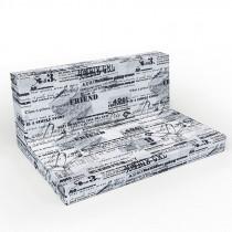 Cojines para mueble de palets Chill out letras negras