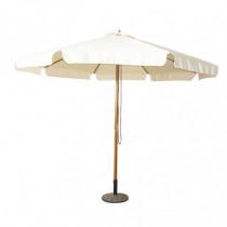 Parasol de madera con toldo de 3 metros