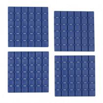 Pack 6 cuadrados antideslizantes - azul