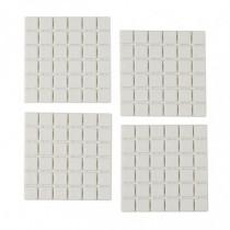 Pack 6 cuadrados para ducha - blanco