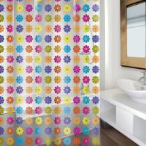 Cortina baño - Flowers multicolor