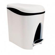 Cubo pedal sanitario - 7 litros blanco