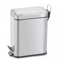 Cubo pedal sanitario - 5 litros acero inoxidable