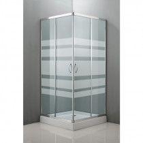 Mampara ducha angular 2 puertas plato 80x80 cm
