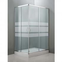 Mampara ducha angular 2 puertas plato 70x100 cm