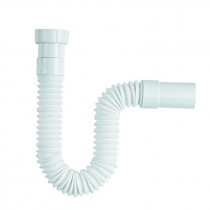Sifón flexible extensible - universal blanco