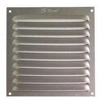 Rejilla de ventilación anonizada plata. 10 unidades