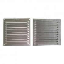 Rejilla de ventilación con mosquitera anonizado plata. 10...