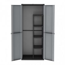 Armario escobero de resina - J-Line 4 estantes