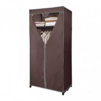 Armario auxiliar - tela marrón con estante