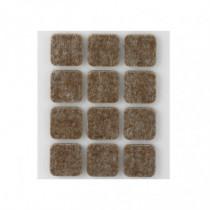 Tope fieltro - marrón 22x22 mm